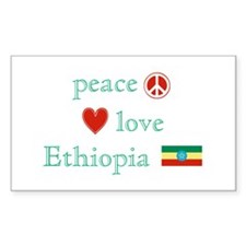 Peace, Love and Ethiopia Decal