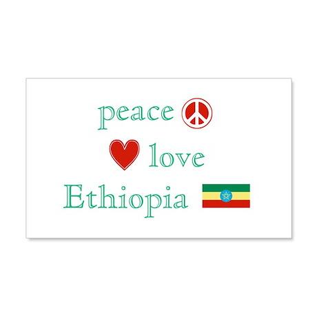 Peace, Love and Ethiopia 22x14 Wall Peel