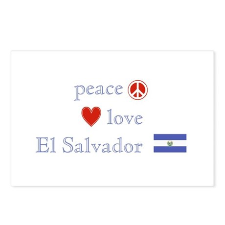 Peace, Love and El Salvador Postcards (Package of