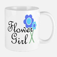 Blue Daisy Flower Girl Mug