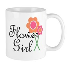 Orange Daisy Flower Girl.png Mug