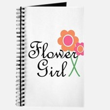 Orange Daisy Flower Girl.png Journal
