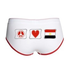 Peace, Love and Egypt Women's Boy Brief