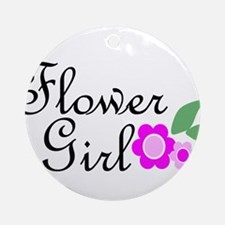 Pink Daisy Flower Girl.png Ornament (Round)