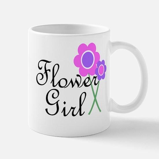 Purple Daisy Flower Girl.png Mug