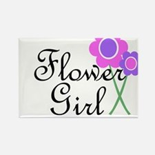 Purple Daisy Flower Girl.png Rectangle Magnet