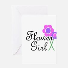 Purple Daisy Flower Girl.png Greeting Card