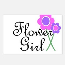 Purple Daisy Flower Girl.png Postcards (Package of