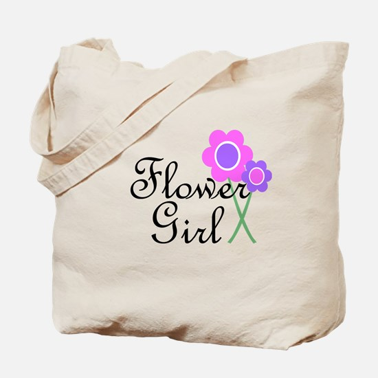 Purple Daisy Flower Girl.png Tote Bag