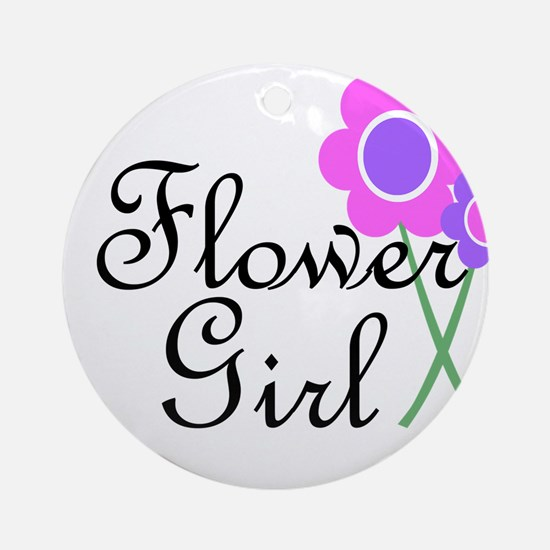 Purple Daisy Flower Girl.png Ornament (Round)