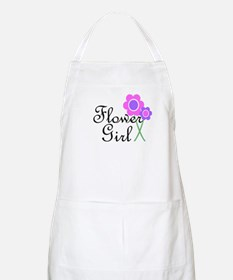 Purple Daisy Flower Girl.png Apron