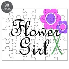 Purple Daisy Flower Girl.png Puzzle