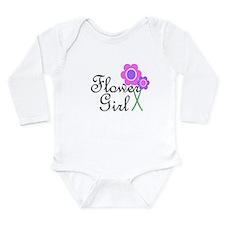 Purple Daisy Flower Girl.png Long Sleeve Infant Bo