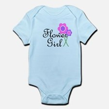 Purple Daisy Flower Girl.png Infant Bodysuit