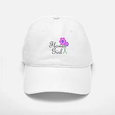 Purple Daisy Flower Girl.png Baseball Baseball Cap