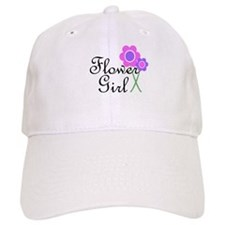 Purple Daisy Flower Girl.png Baseball Cap