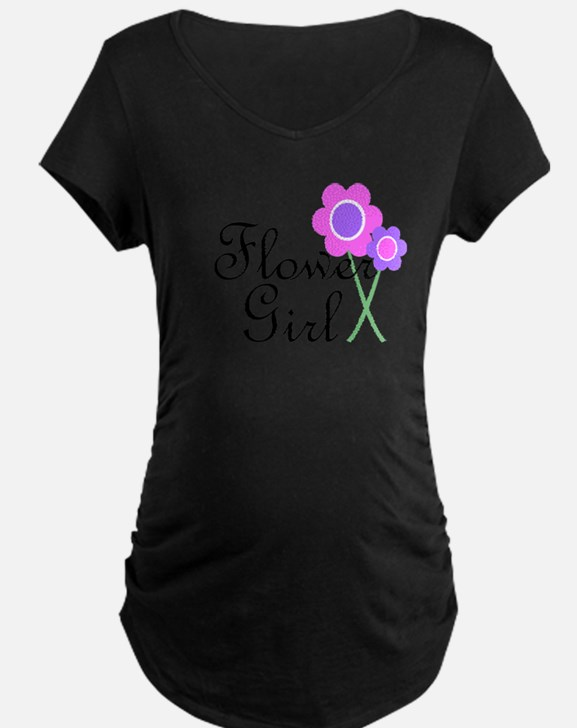 Purple Daisy Flower Girl.png T-Shirt