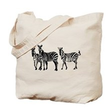 Cute Zebras Tote Bag