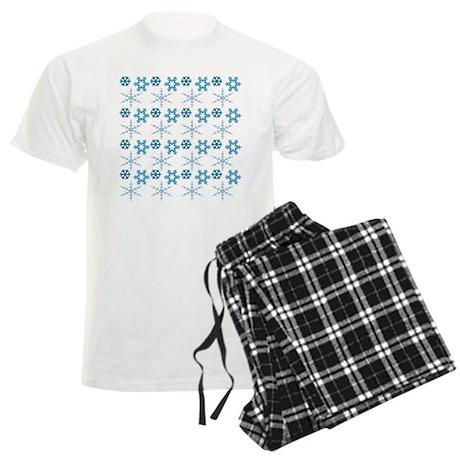 blue snowflakes.png Men's Light Pajamas