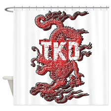 Taekwondo Dragon Shower Curtain