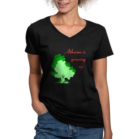 T Women's V-Neck Dark T-Shirt
