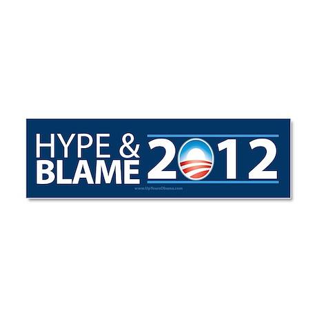 Hype & Blame 2012 Car Magnet 10 x 3