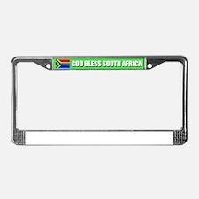 God Bless Soth Africa License Plate Frame
