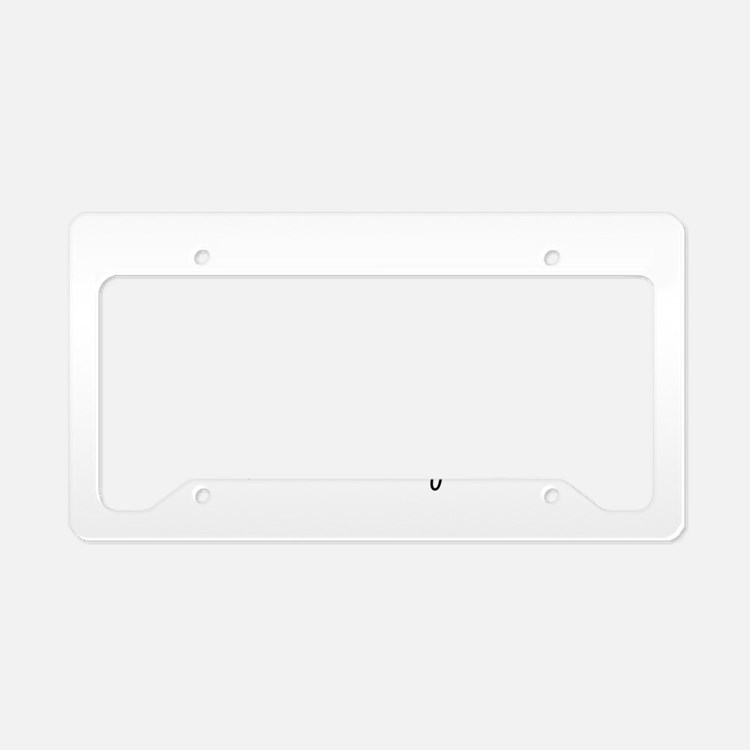 Mustache A Question License Plate Holder