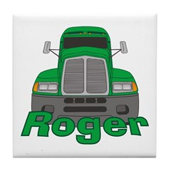 Trucker Roger Tile Coaster