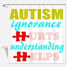 autismigun.png Shower Curtain