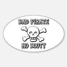 Bad Pirate Oval Decal