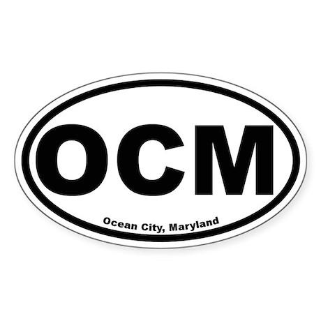 Ocean City Maryland Oval Sticker