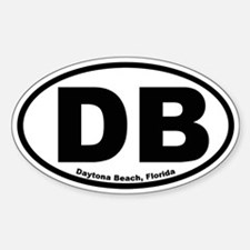 Daytona Beach Oval Decal