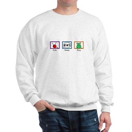 Knit. Swear. Frog. Sweatshirt