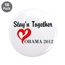 "Obama Stayn Together 3.5"" Button (10 pack)"