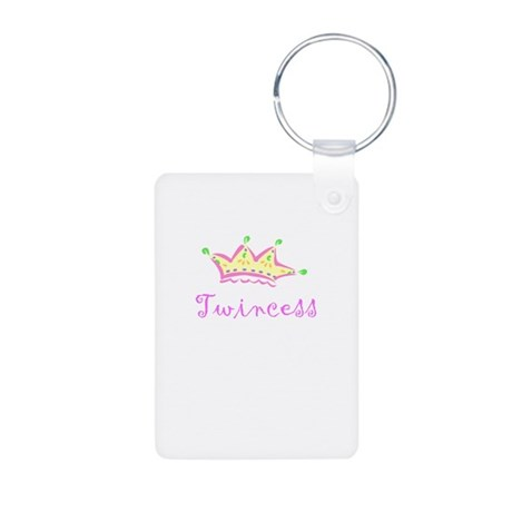 twincess.png Aluminum Photo Keychain