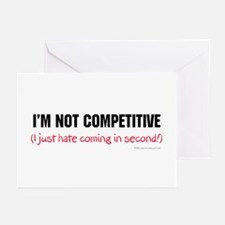 I'm Not Competitive Greeting Cards #2 (Pk of 10)