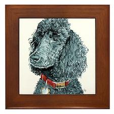 Black Poodle Whitney Framed Tile