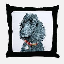 Black Poodle Whitney Throw Pillow