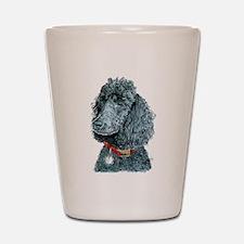 Black Poodle Whitney Shot Glass