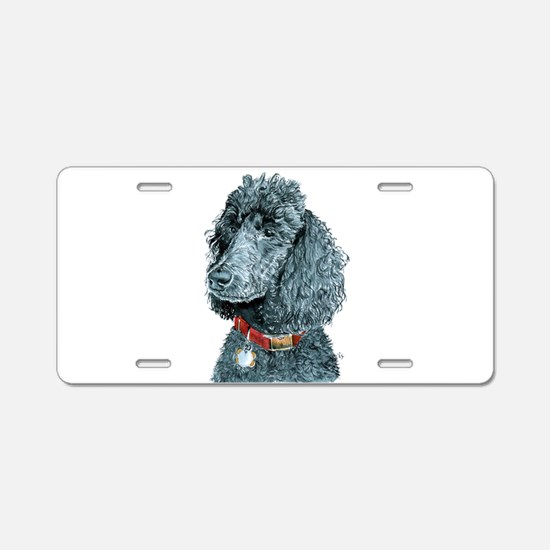 Black Poodle Whitney Aluminum License Plate