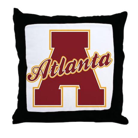 Atlanta Letter Throw Pillow