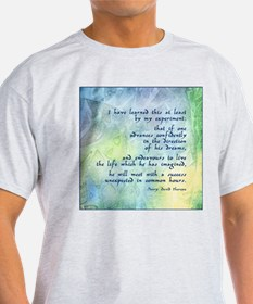 Inspirational Thoreau Quote Ash Grey T-Shirt