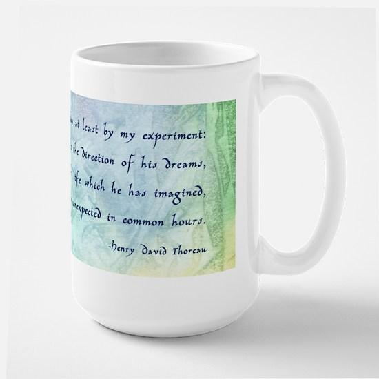 Inspirational Thoreau Quote Large Mug