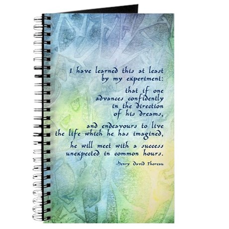 inspirational thoreau quote journal by artoffoxvox