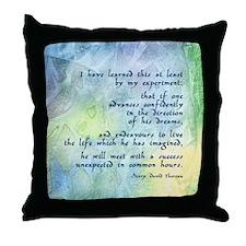 Inspirational Thoreau Quote Throw Pillow