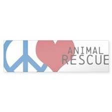 Peace - Love - Rescue Bumper Bumper Sticker