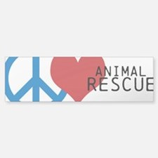 Peace - Love - Rescue Bumper Bumper Sticker