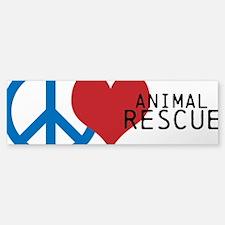 Peace - Love - Rescue Sticker (Bumper)