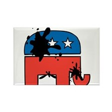 Republican Mudslinging Rectangle Magnet